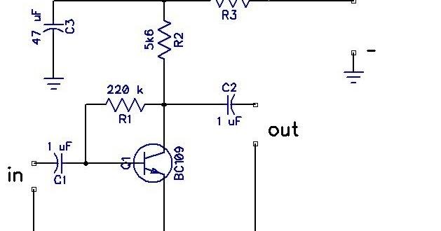 Rangkaian preamp mic 1 transistor gambar rangkaian elektronika 1 transistor gambar rangkaian elektronika ccuart Image collections