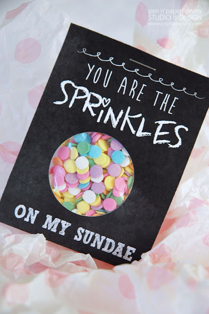 sprinkles on my sundae valentine