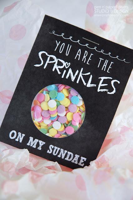 sprinkles on my sundae valentine