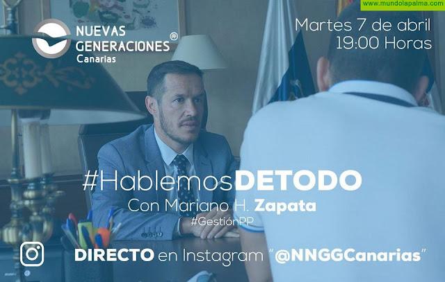 Mariano H.Zapata responderá a las preguntas sobre la gestión COVID-19 en la campaña de NNGG Canarias #HablemosDETODO