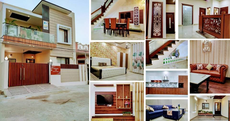Luxury small villa design by br builders decor units for Small villa design