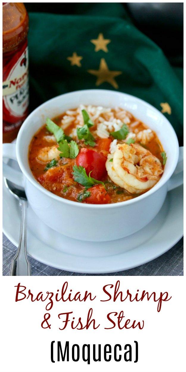 Moqueca, a Brazilian Shrimp and Fish Stew