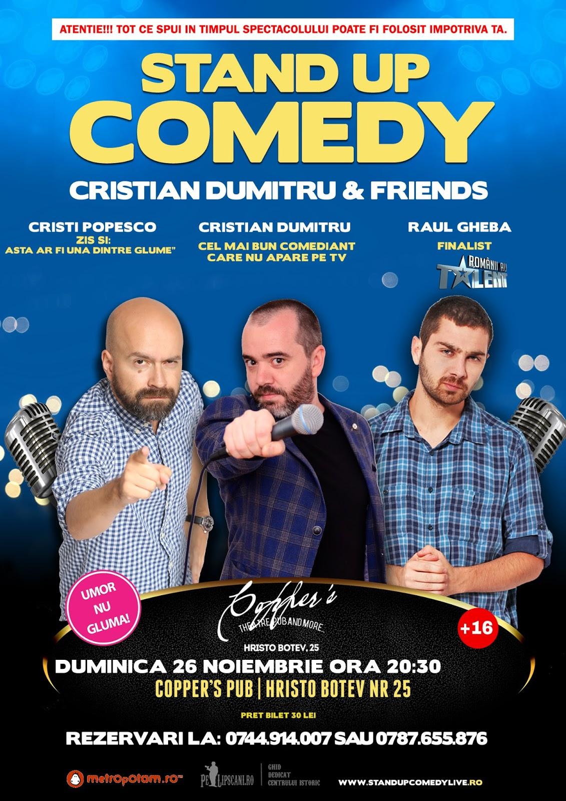 Stand-Up Comedy Bucuresti Duminica 26 Noiembrie 2017