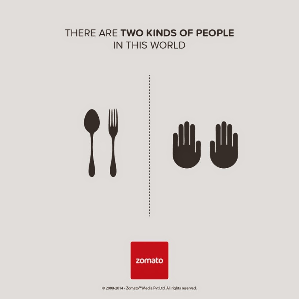 Zomato, There are only two kinds of people in the world