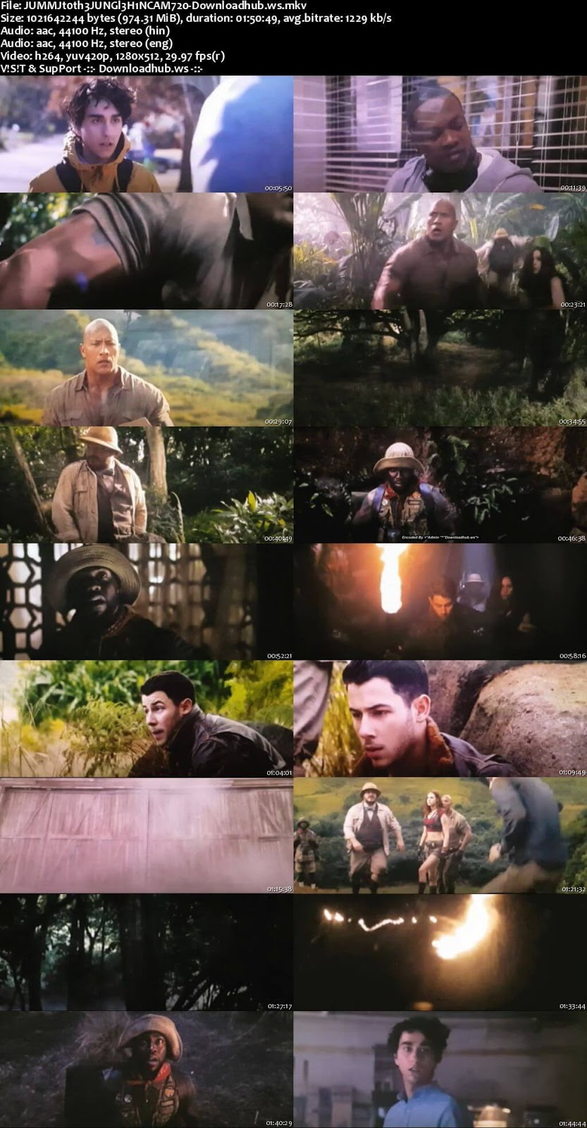 Jumanji Welcome to the Jungle 2017 Hindi Dual Audio 720p HDCAM