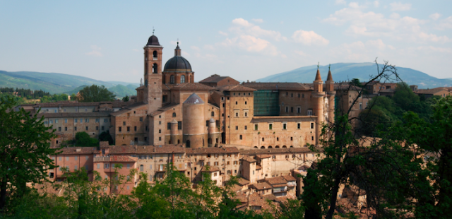 In Urbino the painter Raphael was born and the Montefeltro family held sway for centuries.