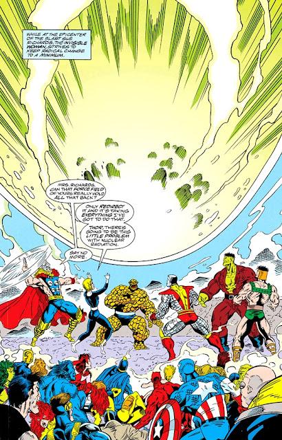 Sue Richards salva a todos los héroes