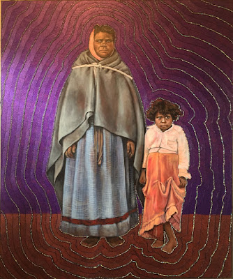 Unknown- Mother & Child with fruit bribe (2017), Julie Dowling