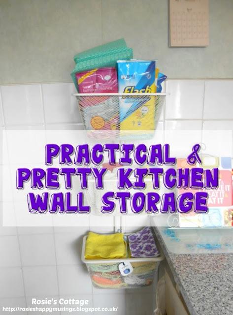 Practical & Pretty Kitchen Wall Storage...
