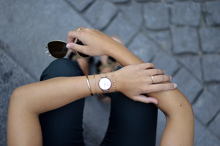 Streetstyle - Details, daniel wellington watch and bangles