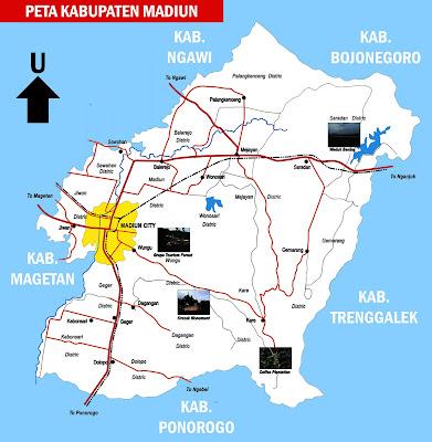 Gambar Peta Kabupaten Madiun