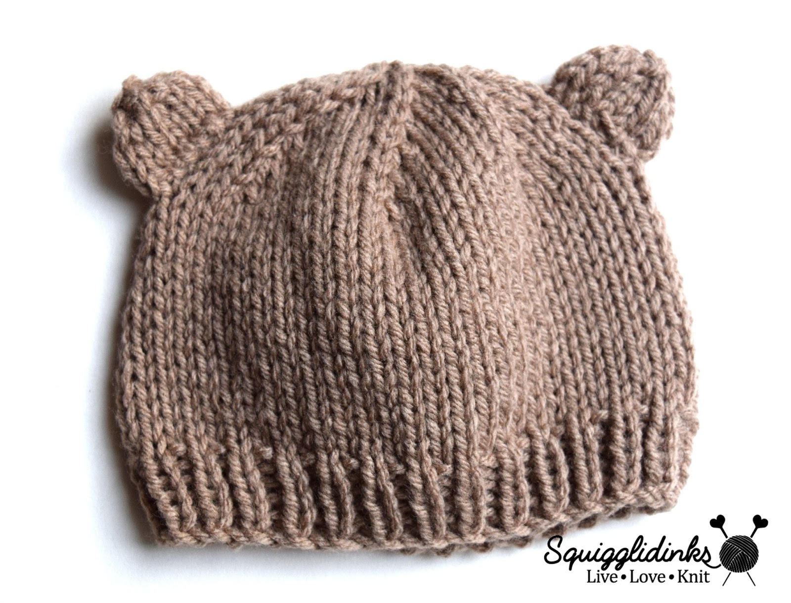 Squigglidinks baby bear hat i found the head circumference and number of stitches needed for a basic baby hat in the book itty bitty hats by susan bderson bankloansurffo Gallery