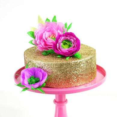 DIY Paper Flower Cake Toppers