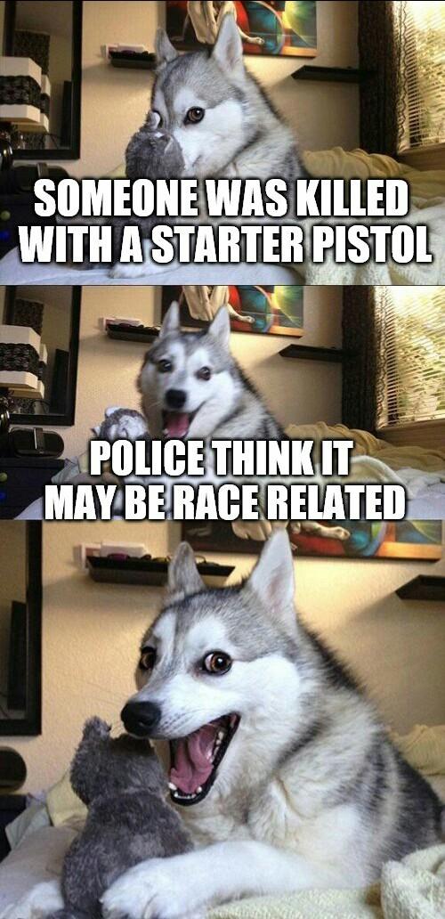 Funny Starter Pistol Killing Meme Picture