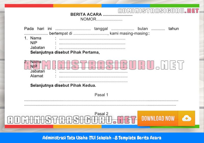 Contoh Format Berita Acara Administrasi Tata Usaha Sekolah Terbaru Tahun 2015-2016.docx