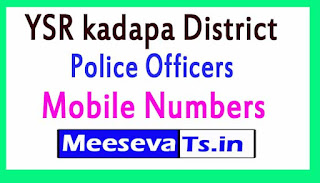 YSR kadapa District Police Office Mobile Numbers List in Andhrapradesh State