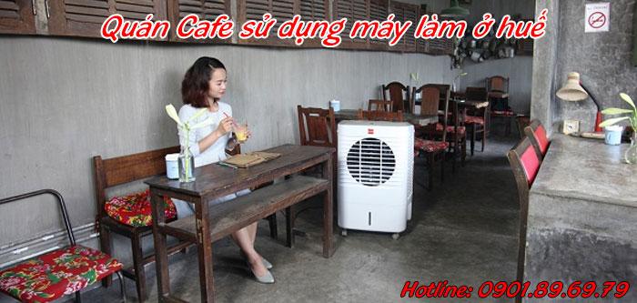 Quán cafe sử dụng máy làm mát không khí ở huế