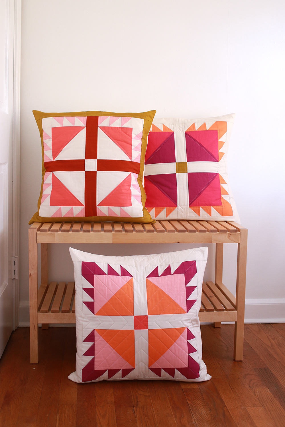Bear Paw Pillows in Quilts & More Winter 2019