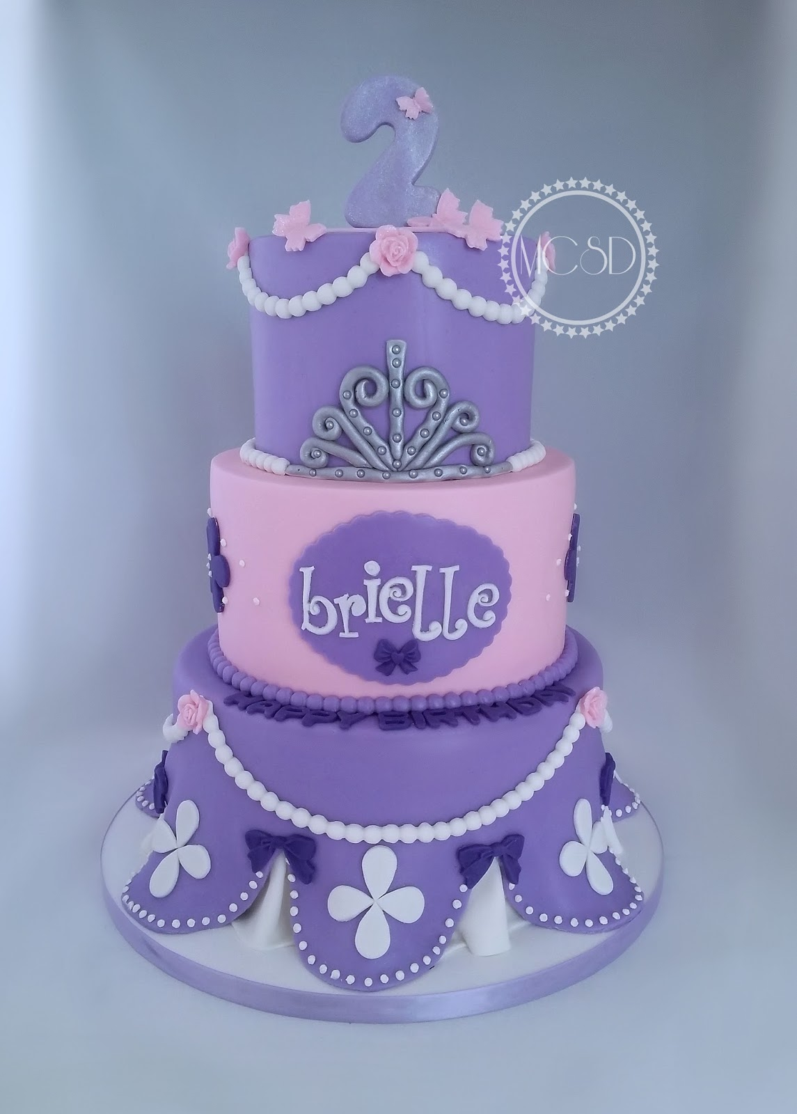 Superb Cakesbyzana Sofia The First Birthday Cake Funny Birthday Cards Online Overcheapnameinfo