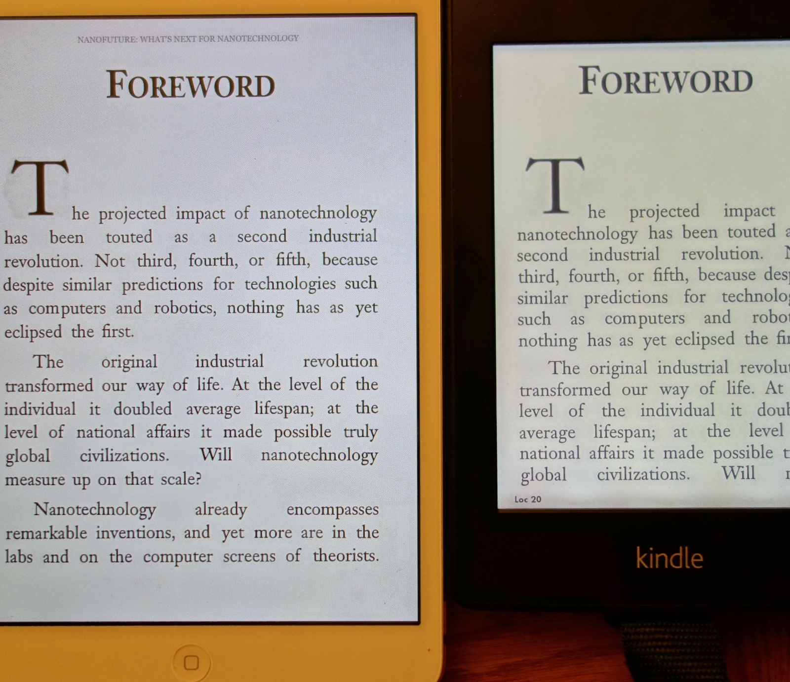 eReaderJoy: Galaxy Note, iPad Mini, and Kindle Paperwhite screens