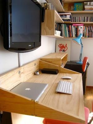 como esconder o home office em apartamentos pequenos
