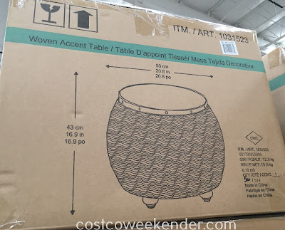 Costco 1031523 - Woven Accent Table - great for any patio or backyard