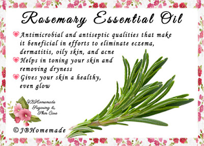 Rosemary ♦Antimicrobial and antiseptic qualities that make it beneficial in efforts to eliminate eczema, dermatitis, oily skin, and acne ♦Helps in toning your skin and removing dryness ♦Gives your skin a healthy, even glow