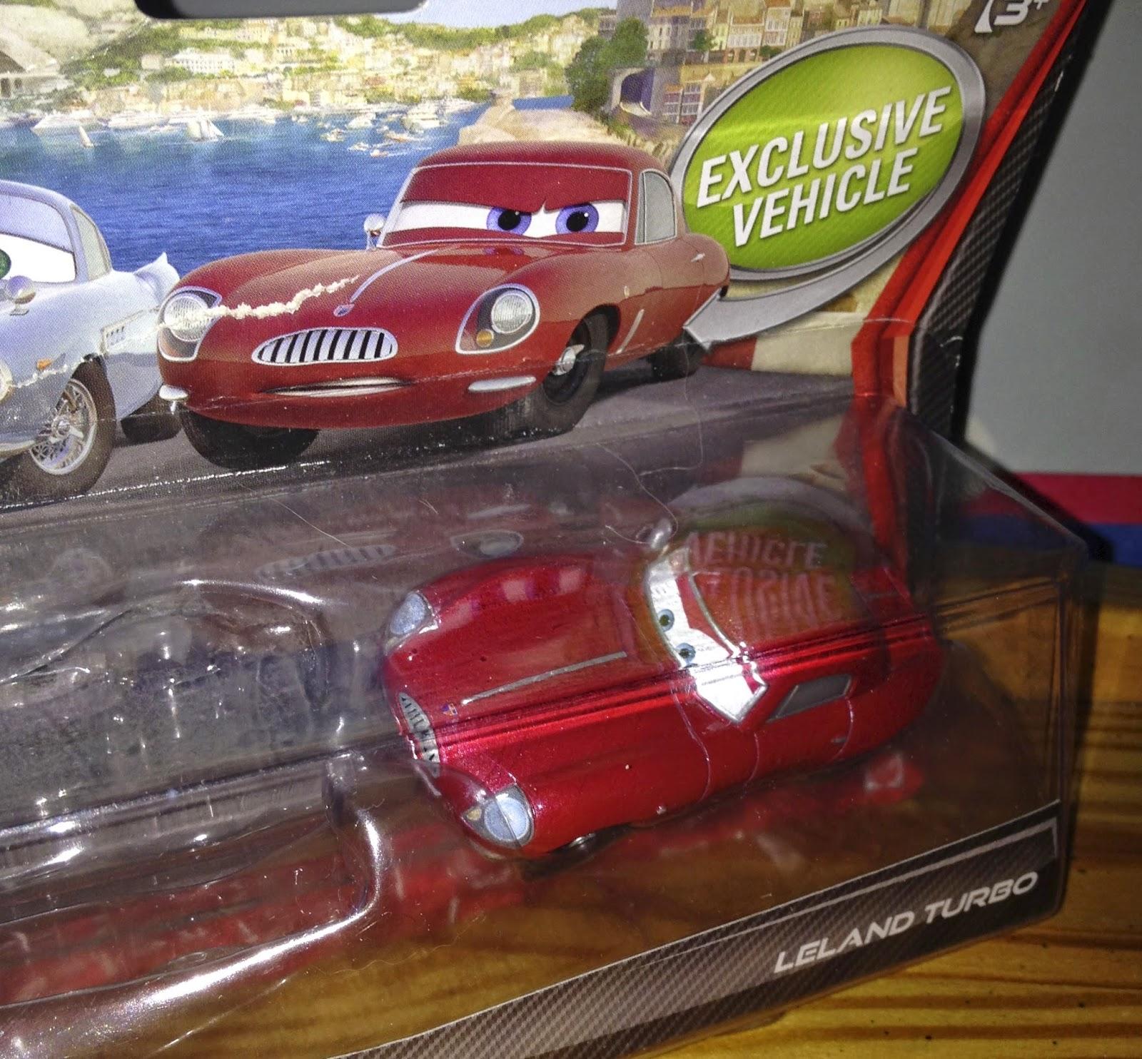 Finn Mcmissile Giocattolo Mattel Disney 1 55 Cars Auto: Dan The Pixar Fan: Cars 2: Leland Turbo