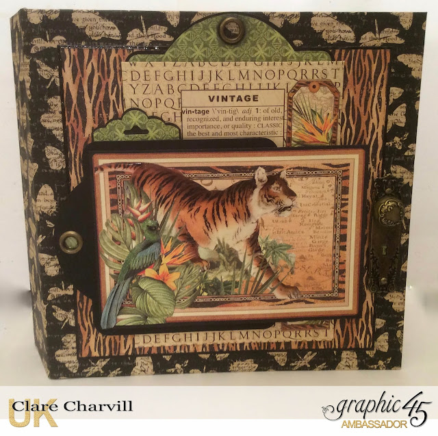 Safari Adventure Ring Binder 2  Clare Charvill Graphic 45