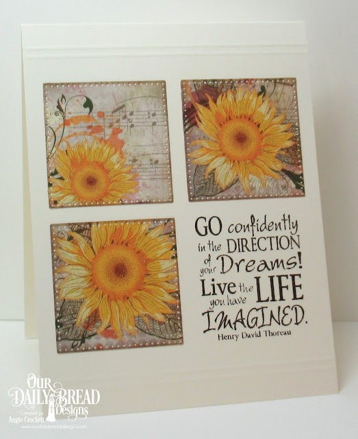 ODBD Dreams, ODBD Follow The Son Paper Collection, ODBD Custom Pierced Squares Dies, Card Designer Angie Crockett