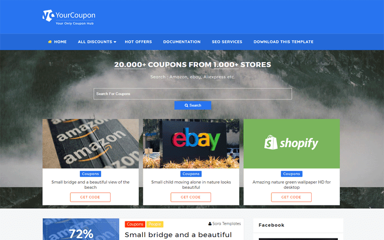 Your Coupon Free Blogger Template