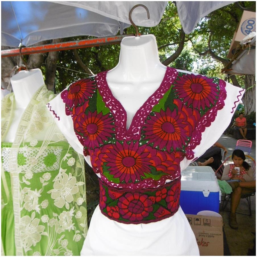 Eine Bluse oder ein Kleid...ohne Schnittmuster und zum Handnähen ...
