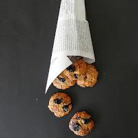 Cookies de aveia, amêndoa e mirtilos