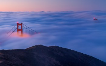 Wallpaper: Fog over Golden Gate