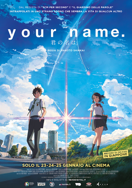 Your Name Makoto Shinkai poster recensione