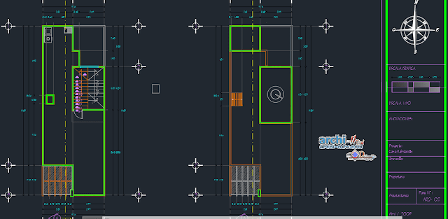Home dwelling in AutoCAD