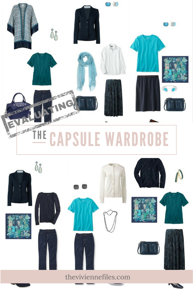 12 Months, 12 Outfits In A Navy-Based Capsule Wardrobe: An