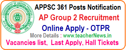 APPSC 361 Posts Nofication