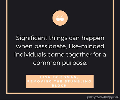 Significant things can happen when passionate, like-minded individuals come together for a common purpose; Removing the Stumbling Block
