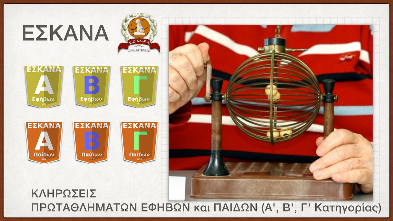 Σήμερα (20.07.2016) οι κληρώσεις των πρωταθλημάτων Εφήβων και Παίδων