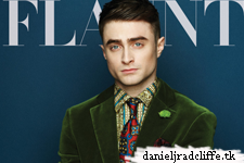 Flaunt cover featuring Daniel Radcliffe (US)