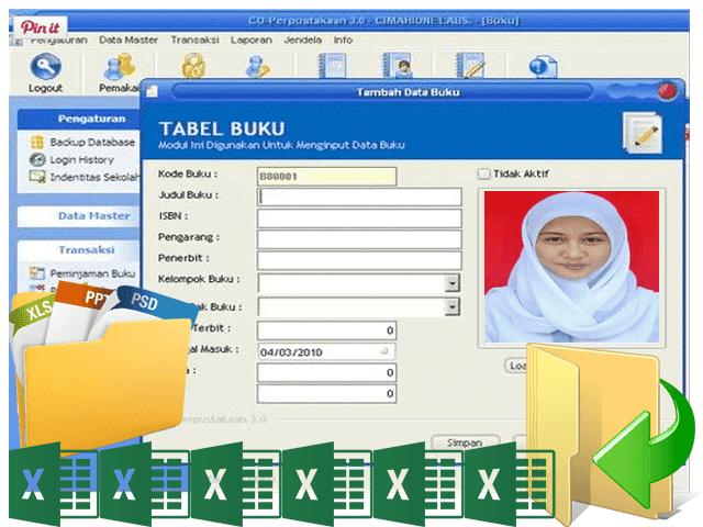 Download Master Aplikasi Perpustakaan Versi 3.0 SD,SMP,SMA