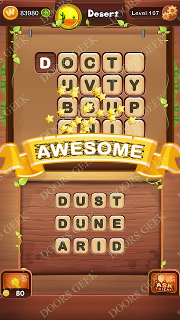 Word Bright Level 107 Answers, Cheats, Solutions, Walkthrough for android, iphone, ipad and ipod