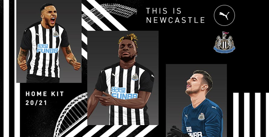 Last By Puma? Newcastle United 20-21 Home Kit Released ...