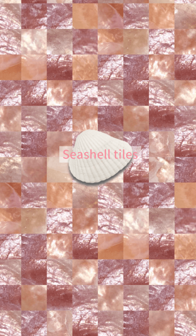 Seashell tiles -coquille pink-