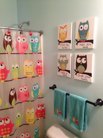 http://thriftyartsygirl.blogspot.com/2015/01/owl-trageously-cute-kids-bathroom.html