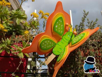 farfalla su molletta in gomma crepla