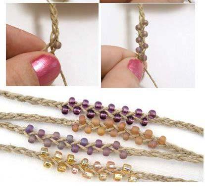 Hemp bracelet pattern