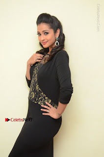 Telugu Actress Manasa Manohar Stills in Black Long Dress at Naku Nene Thopu Turumu Trailer Launch  0005.JPG