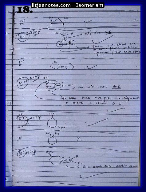 Isomerism Notes2